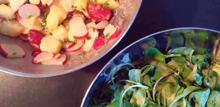 Lauwwarme aardappelsalade met radijs